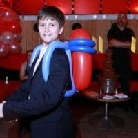 Boy wearing Balloon Jet Pack